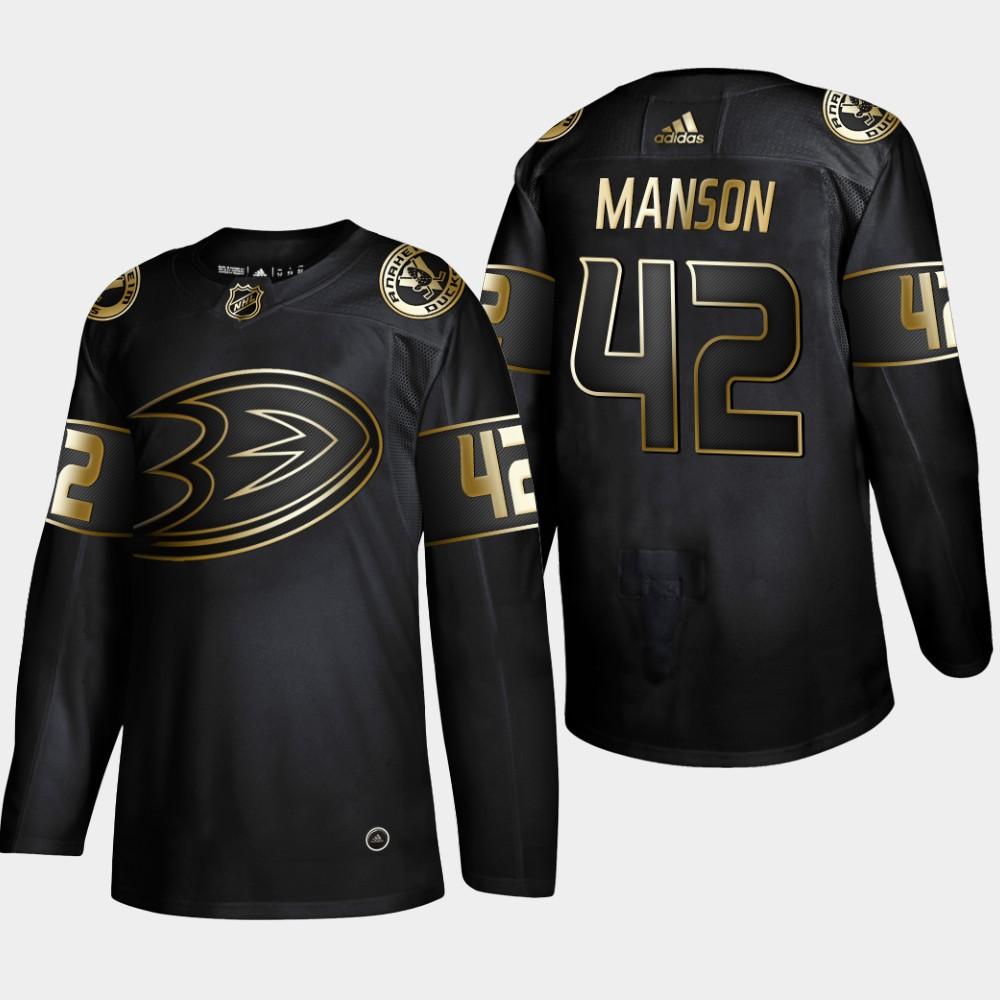Men's Jersey Black Anaheim Ducks NHL Golden Edition Josh Manson