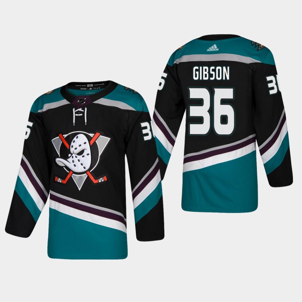 Men's Jersey Black Alternate Anaheim Ducks John Gibson
