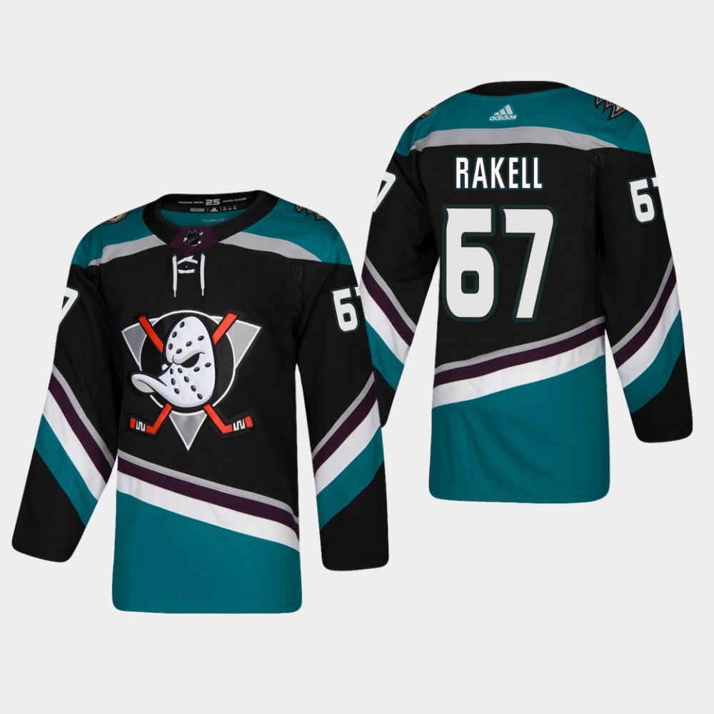 Men's Jersey Black Alternate Anaheim Ducks Rickard Rakell