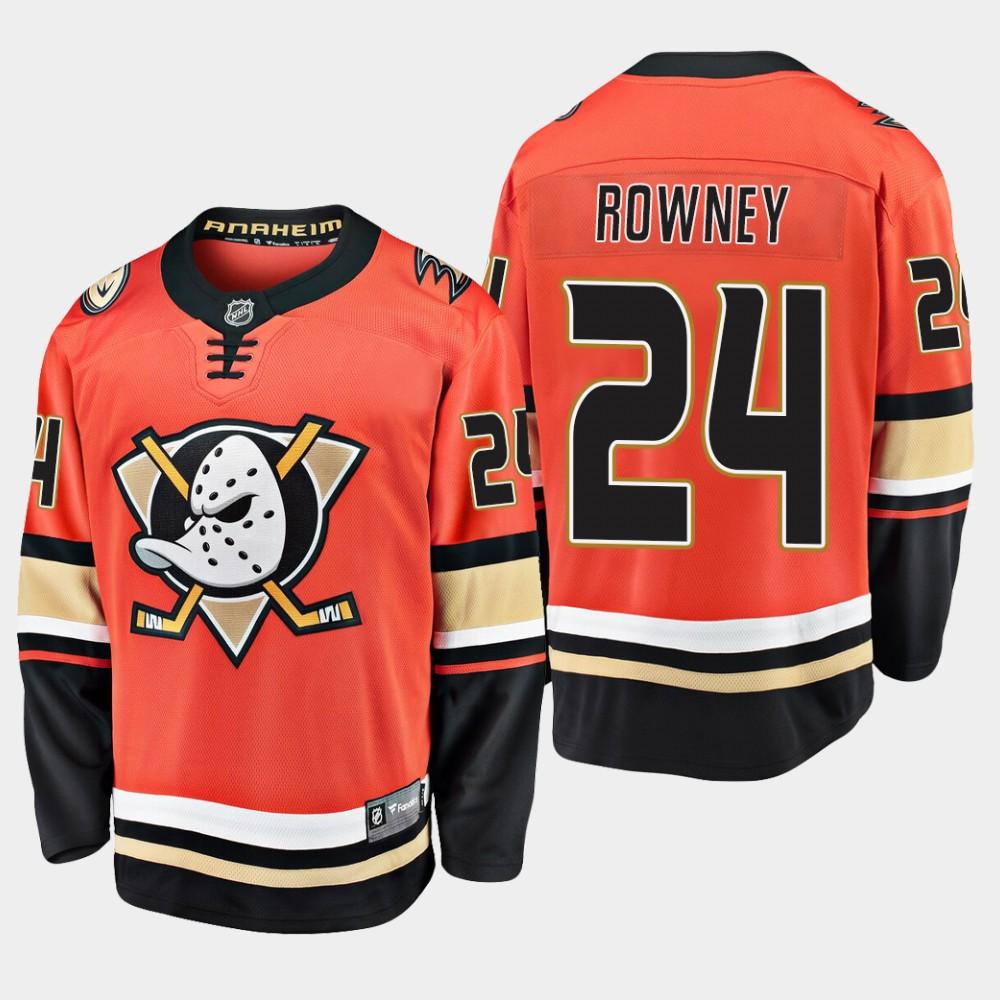 Men's Jersey Alternate Anaheim Ducks Carter Rowney Orange