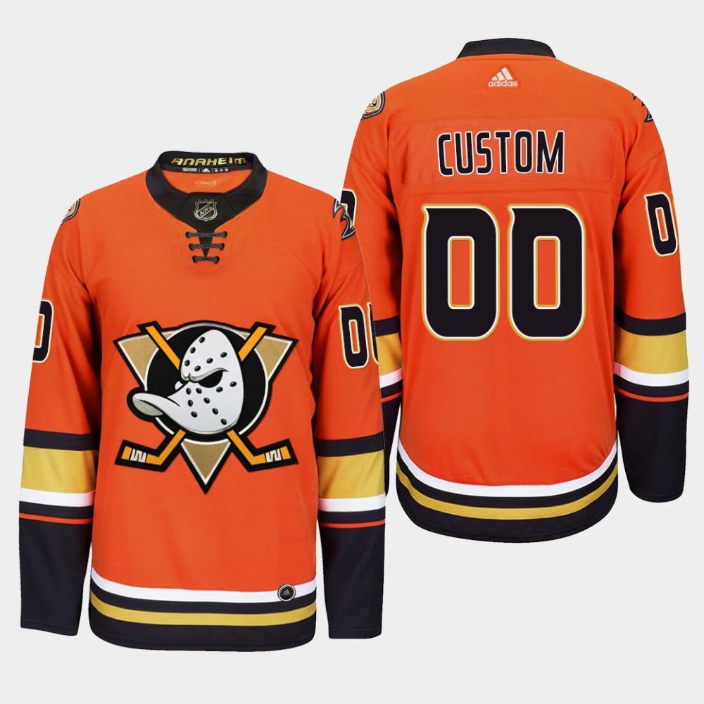Men's Jersey Custom Alternate Anaheim Ducks Orange