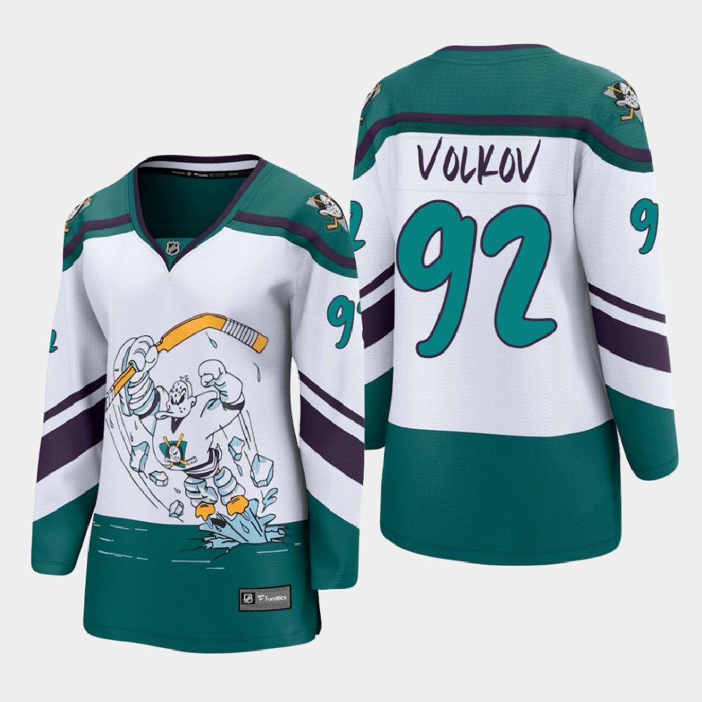 White Jersey Reverse Retro Anaheim Ducks Women's Alexander Volkov