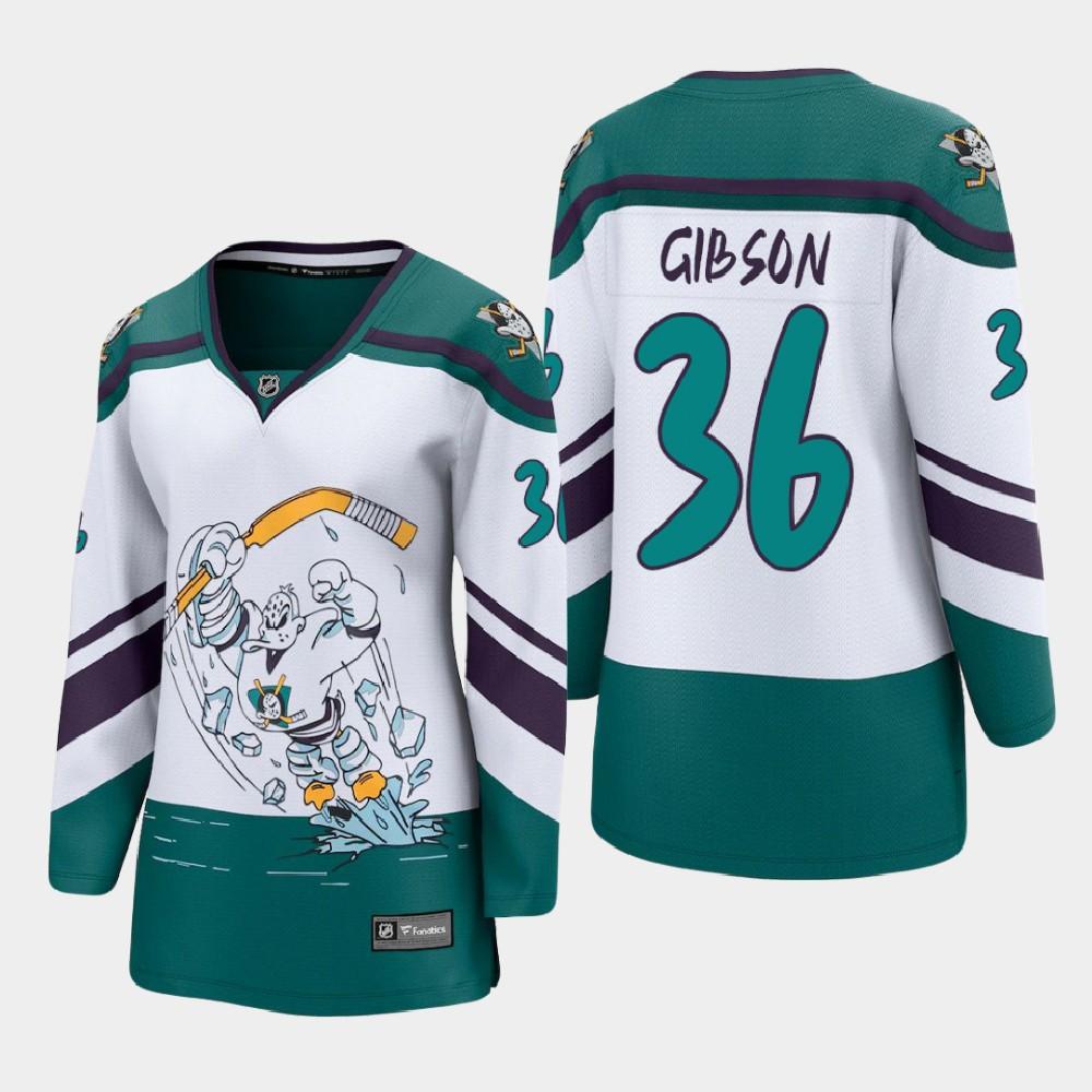 White Jersey Reverse Retro Anaheim Ducks Women's John Gibson