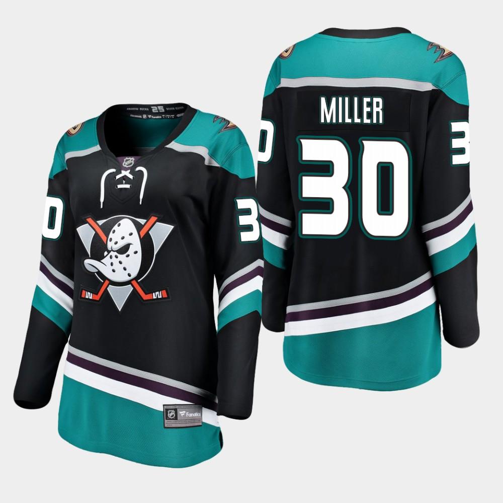 Jersey Black Alternate Anaheim Ducks Women's Ryan Miller