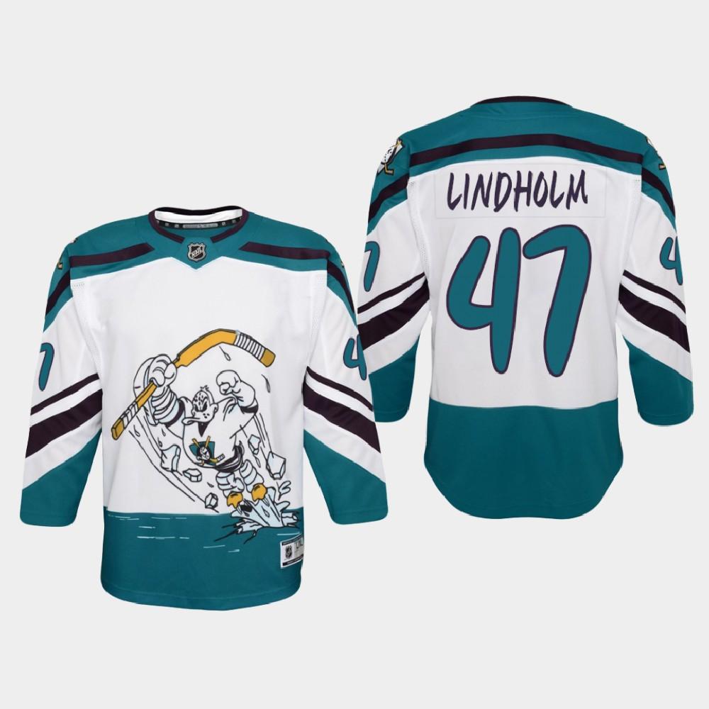 White Jersey Reverse Retro Anaheim Ducks Youth Hampus Lindholm