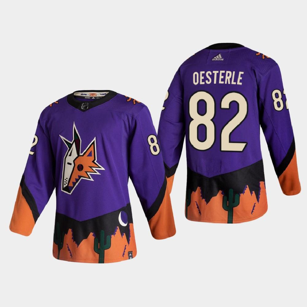 Men's Jersey Reverse Retro Arizona Coyotes Purple Jordan Oesterle