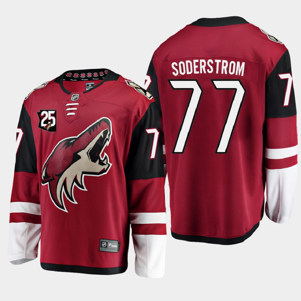 Men's Jersey Red Arizona Coyotes 25th Anniversary Victor Soderstrom