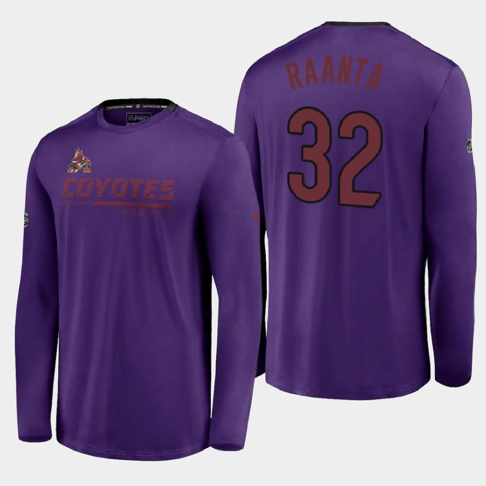 Men's Reverse Retro Arizona Coyotes Purple Antti Raanta T-Shirt