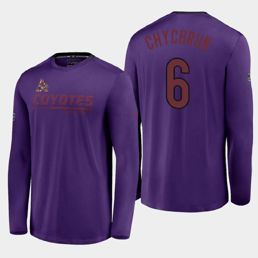 Men's Reverse Retro Arizona Coyotes Purple Jakob Chychrun T-Shirt