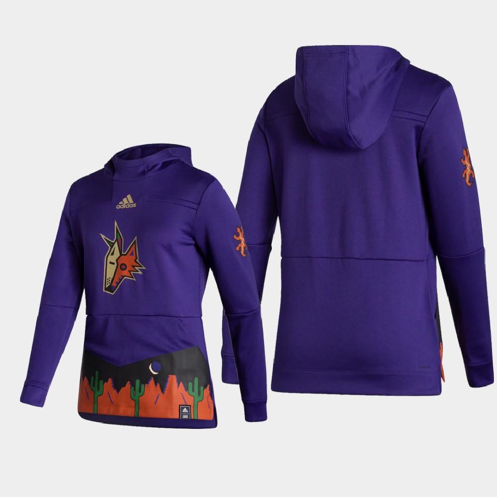 Reverse Retro Women's Arizona Coyotes Purple Hoodie