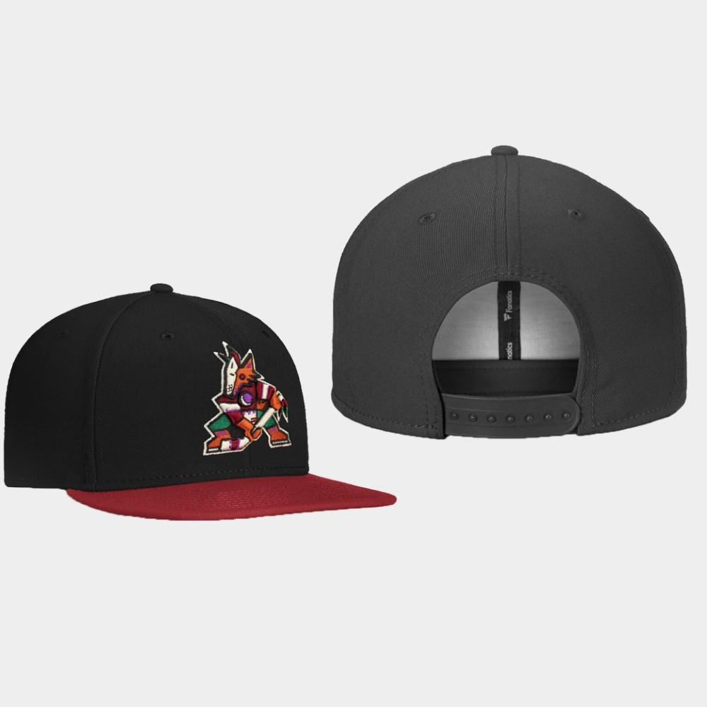 Men's Black Arizona Coyotes Hat Core Alternate Logo