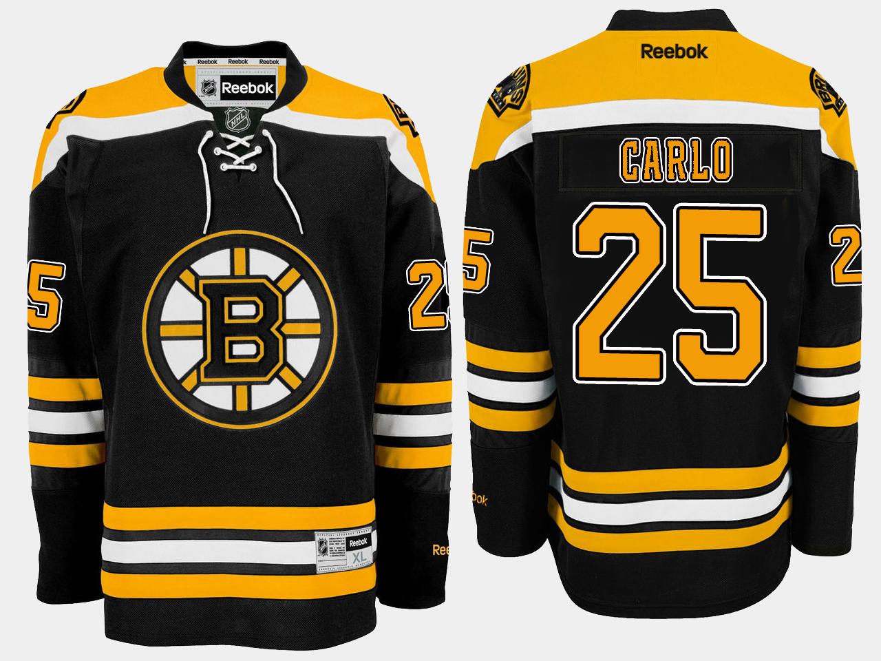 Men's Jersey Home Black Boston Bruins Brandon Carlo