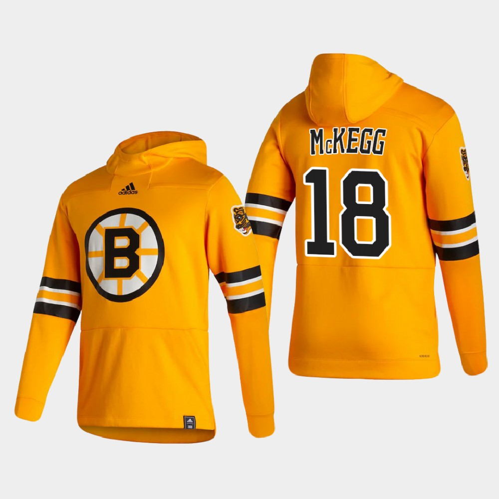 Men's Reverse Retro Gold Boston Bruins Greg McKegg Hoodie