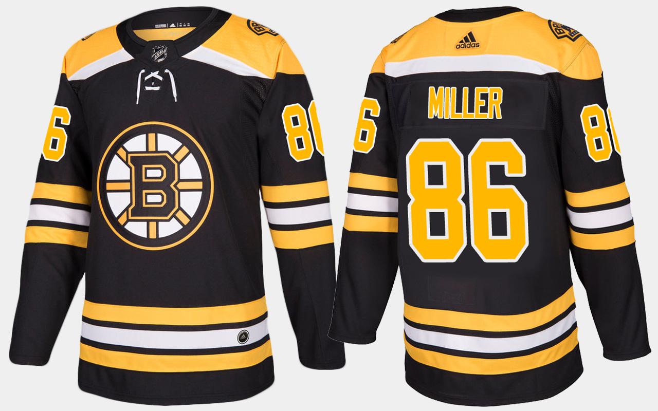 Men's Jersey Home Black Boston Bruins Kevan Miller