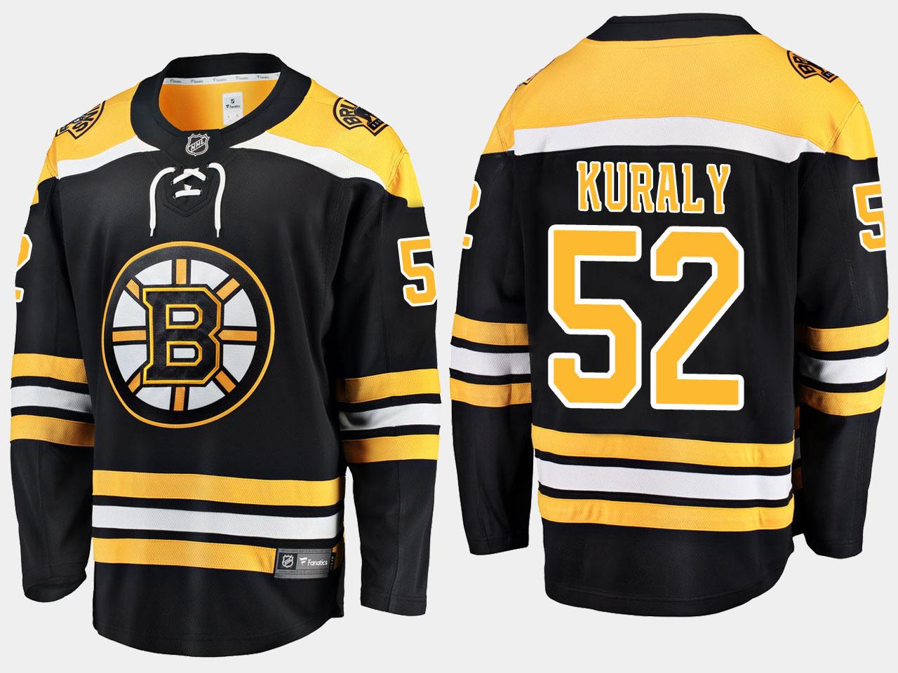 Men's Jersey Home Black Boston Bruins Sean Kuraly