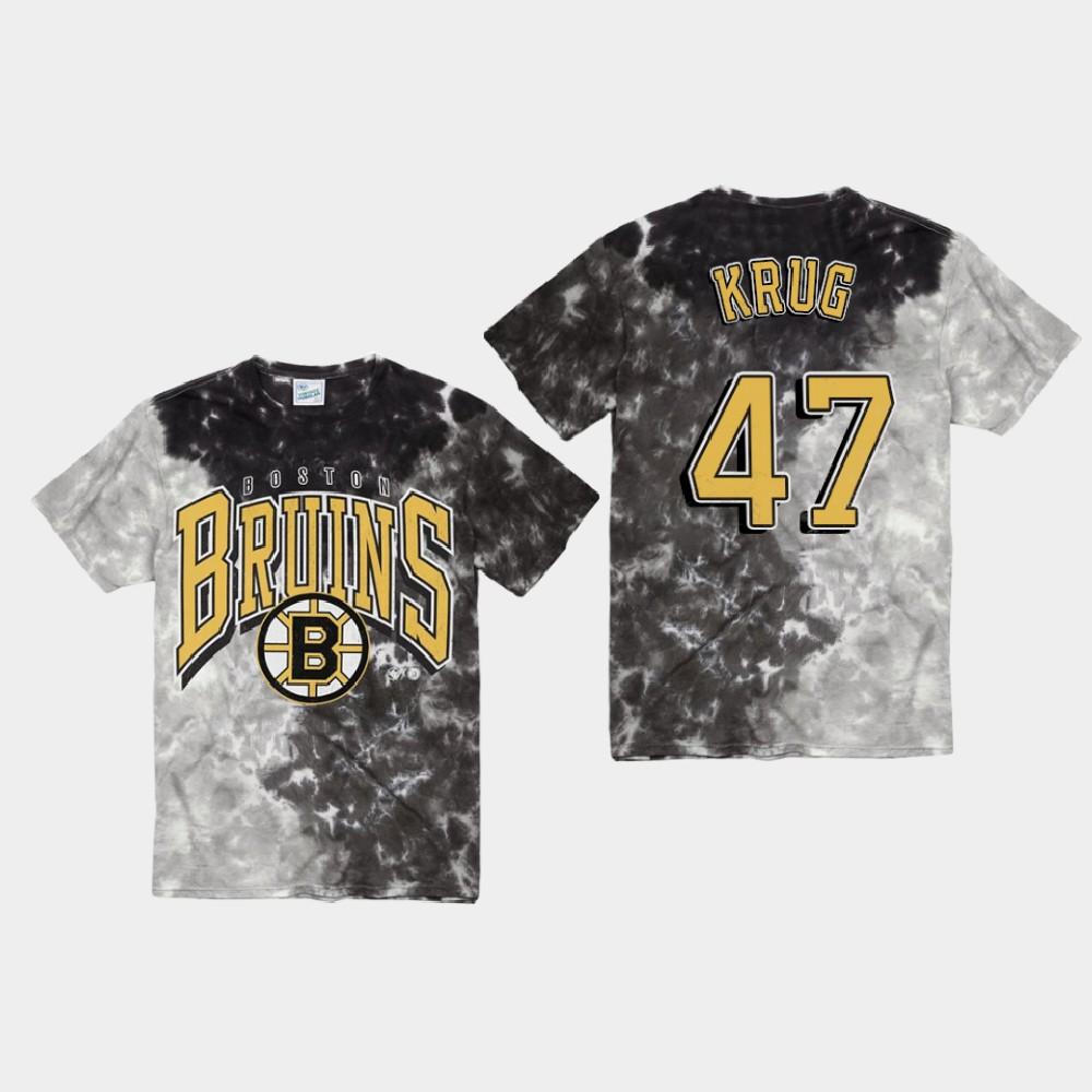 Men's Black Boston Bruins Torey Krug T-Shirt Vintage Tubular