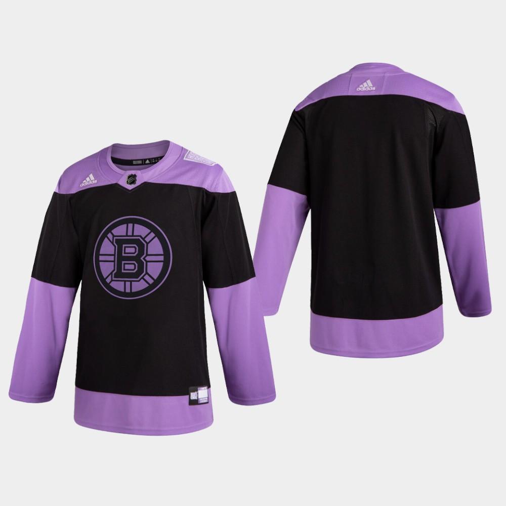 Men's Jersey Black Boston Bruins Hockey Fights Cancer