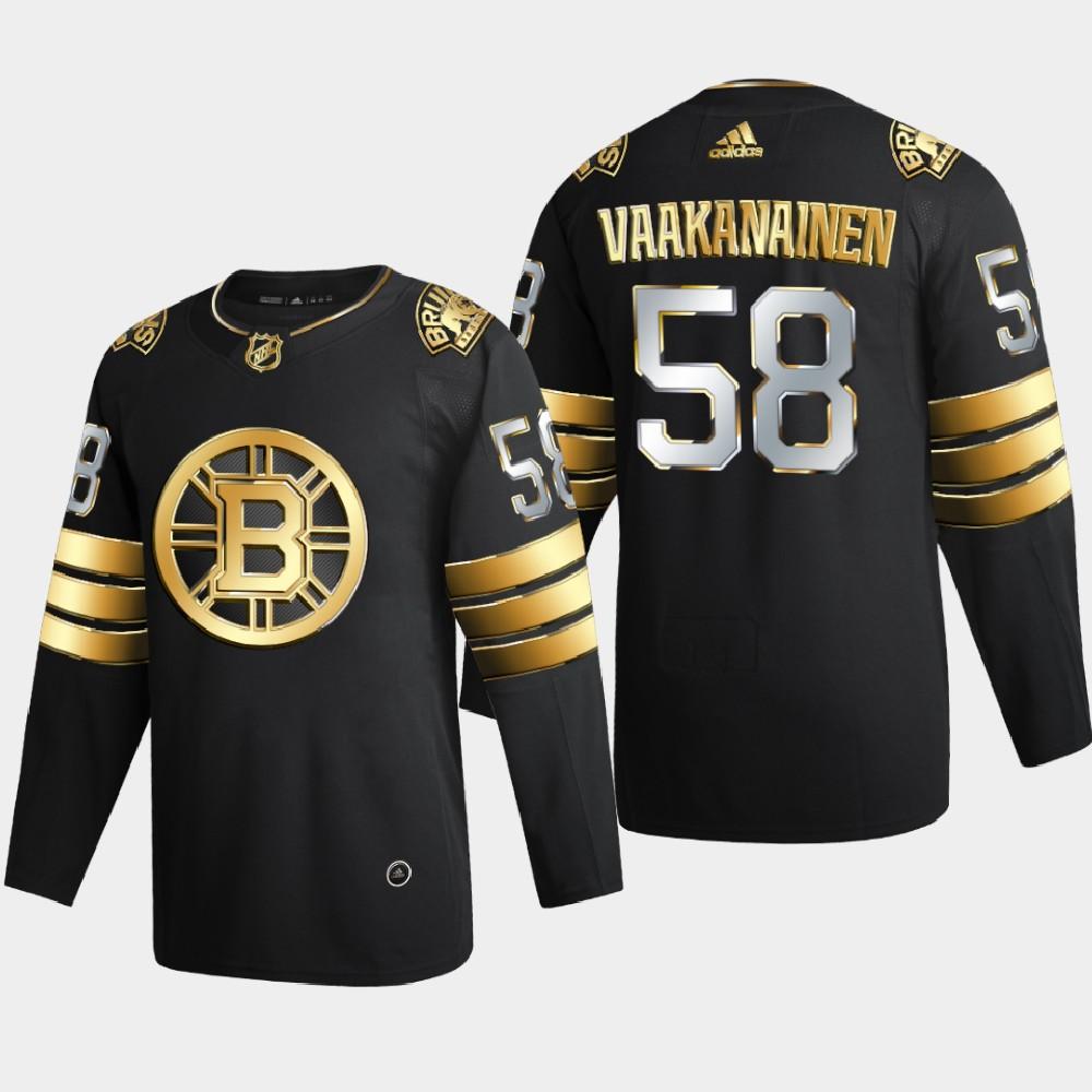Men's Jersey Black Authentic Golden Boston Bruins Urho Vaakanainen