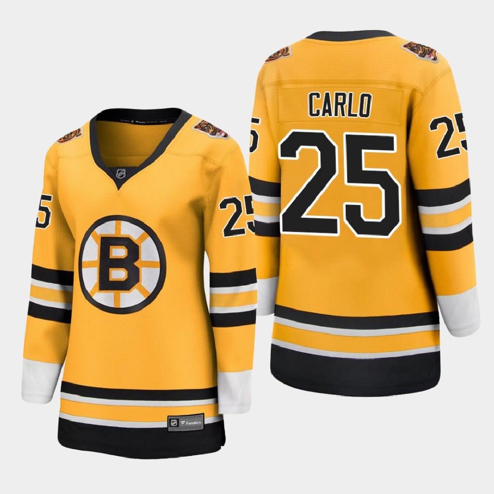 Jersey Reverse Retro Women's Gold Boston Bruins Brandon Carlo