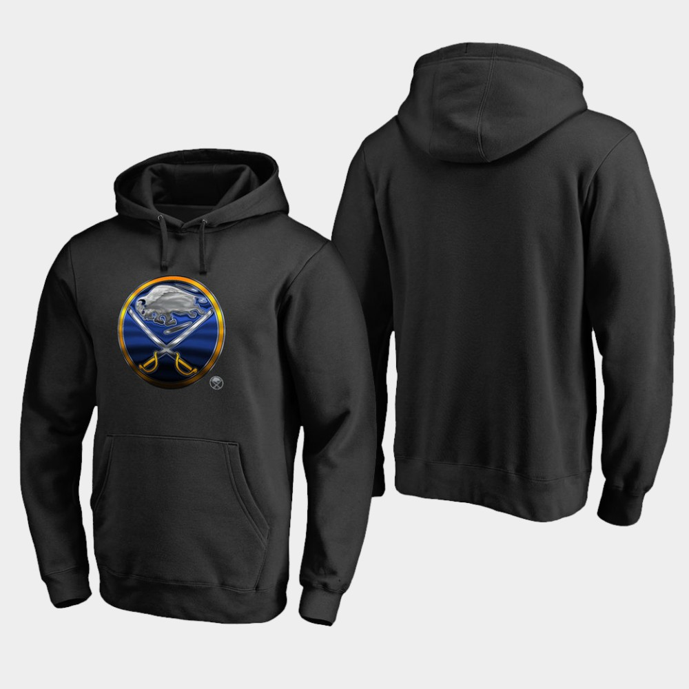 Men's Black Buffalo Sabres Hoodie Midnight Mascot