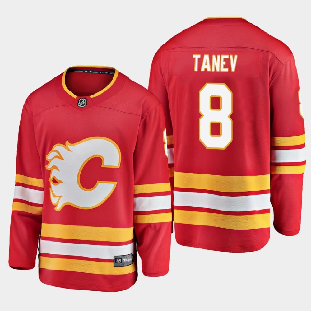Men's Jersey Red Alternate Calgary Flames Chris Tanev