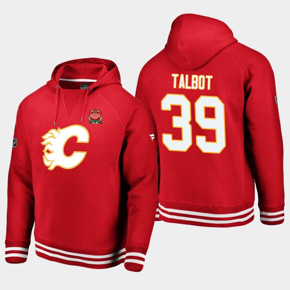 Men's Red Cam Talbot Calgary Flames 2019 Heritage Classic Hoodie