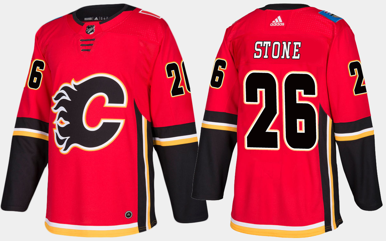 Men's Jersey Red Home Calgary Flames Michael Stone