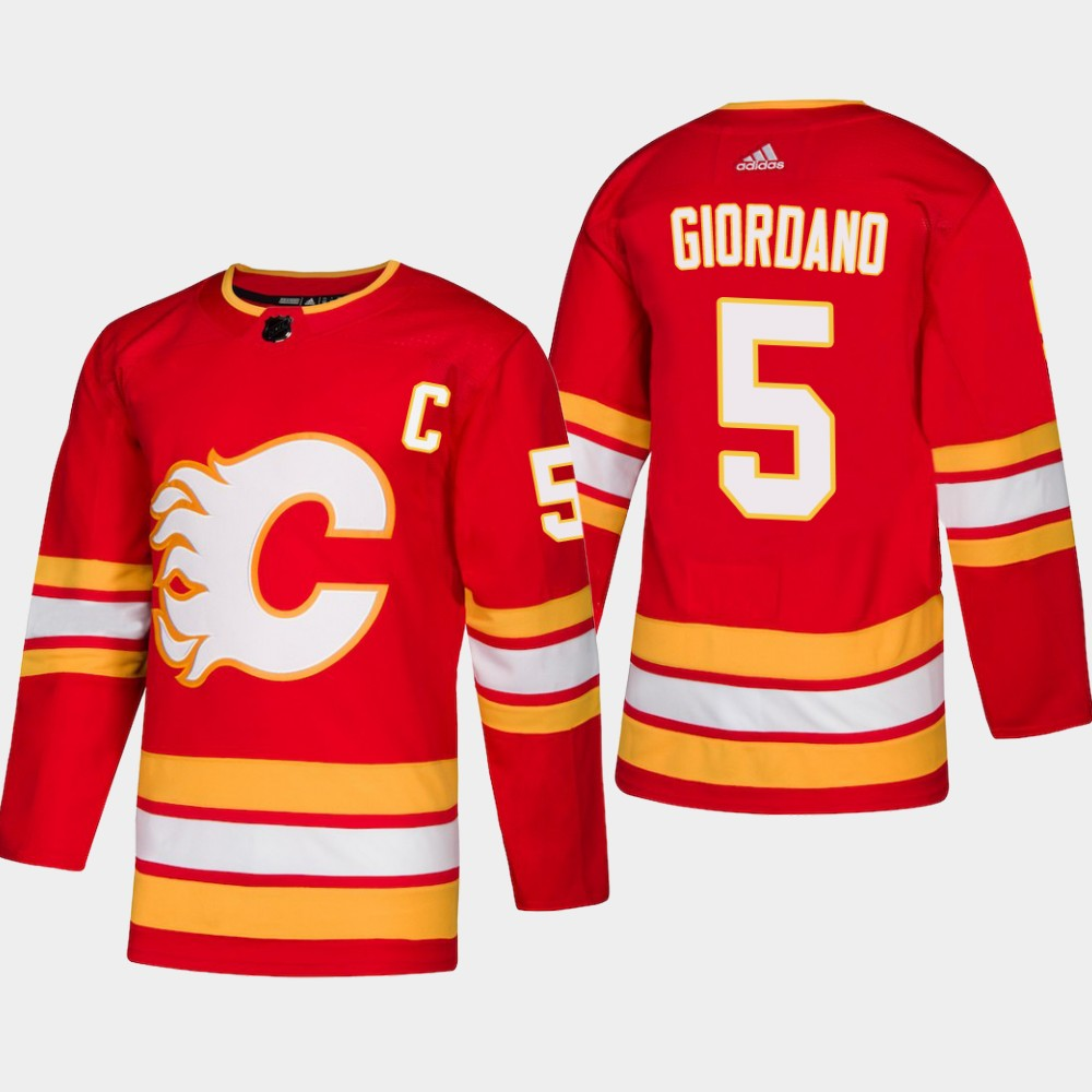 Men's Jersey Red Alternate Calgary Flames Mark Giordano