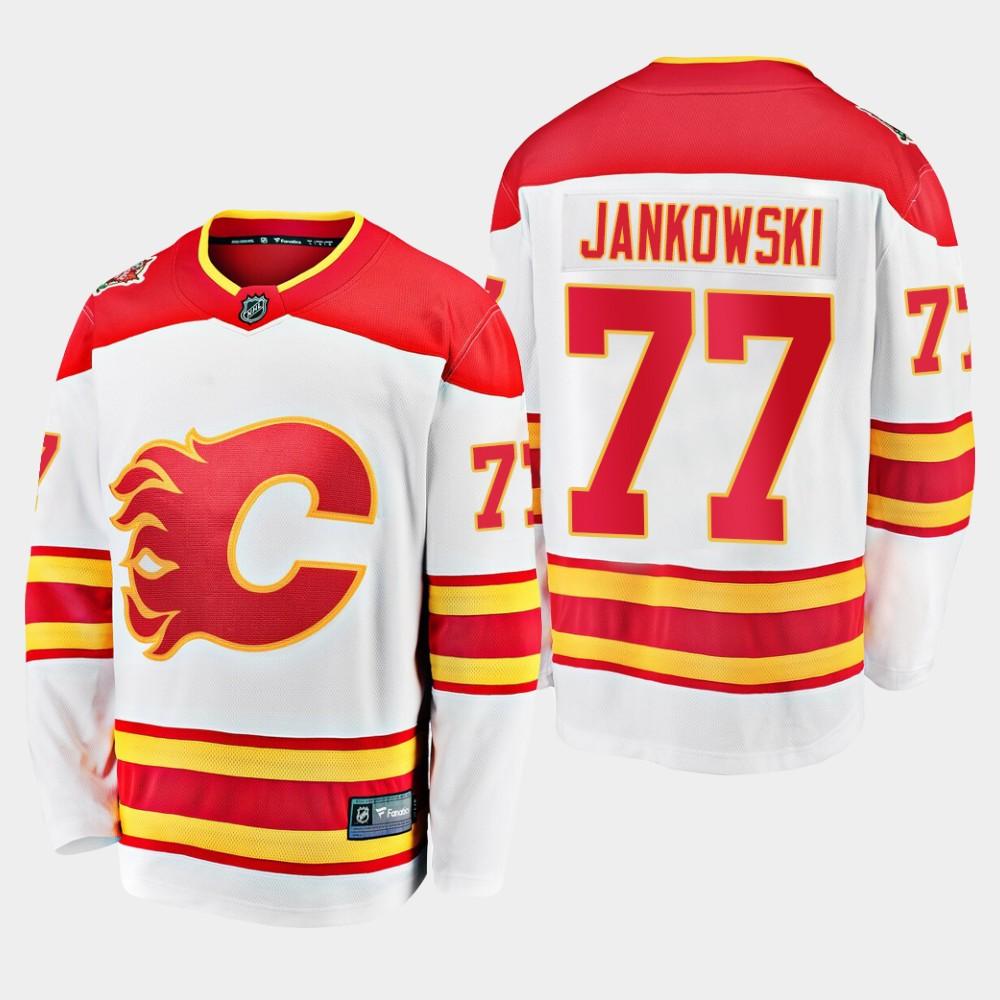 White Men's Jersey Calgary Flames Mark Jankowski 2019 Heritage Classic
