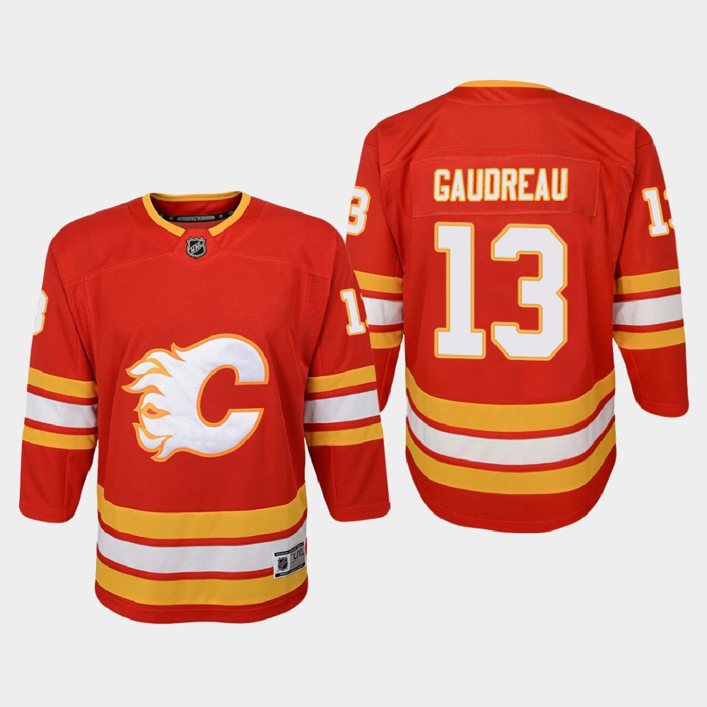 Jersey Red Home Youth Calgary Flames Johnny Gaudreau