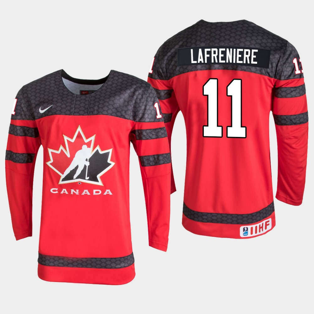 Men's Jersey Red Alexis Lafreniere 2020 IIHF World Junior Championship Canada Team