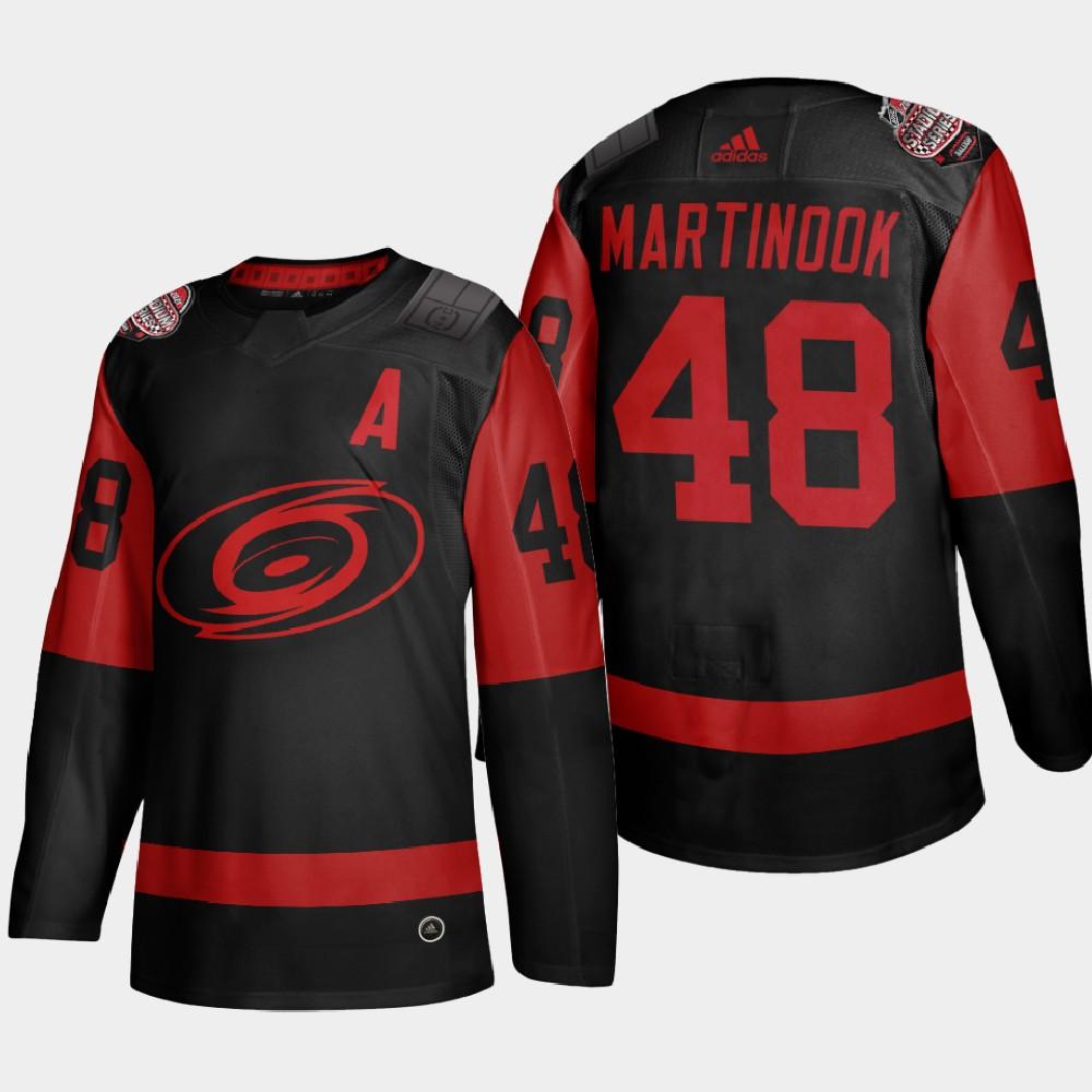 Men's Jersey Black Carolina Hurricanes 2021 Stadium Series Jordan Martinook