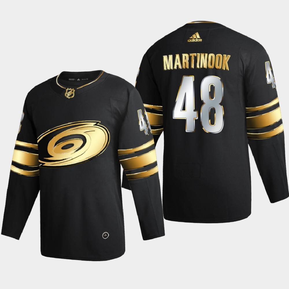 Men's Jersey Black Authentic Golden Carolina Hurricanes Jordan Martinook