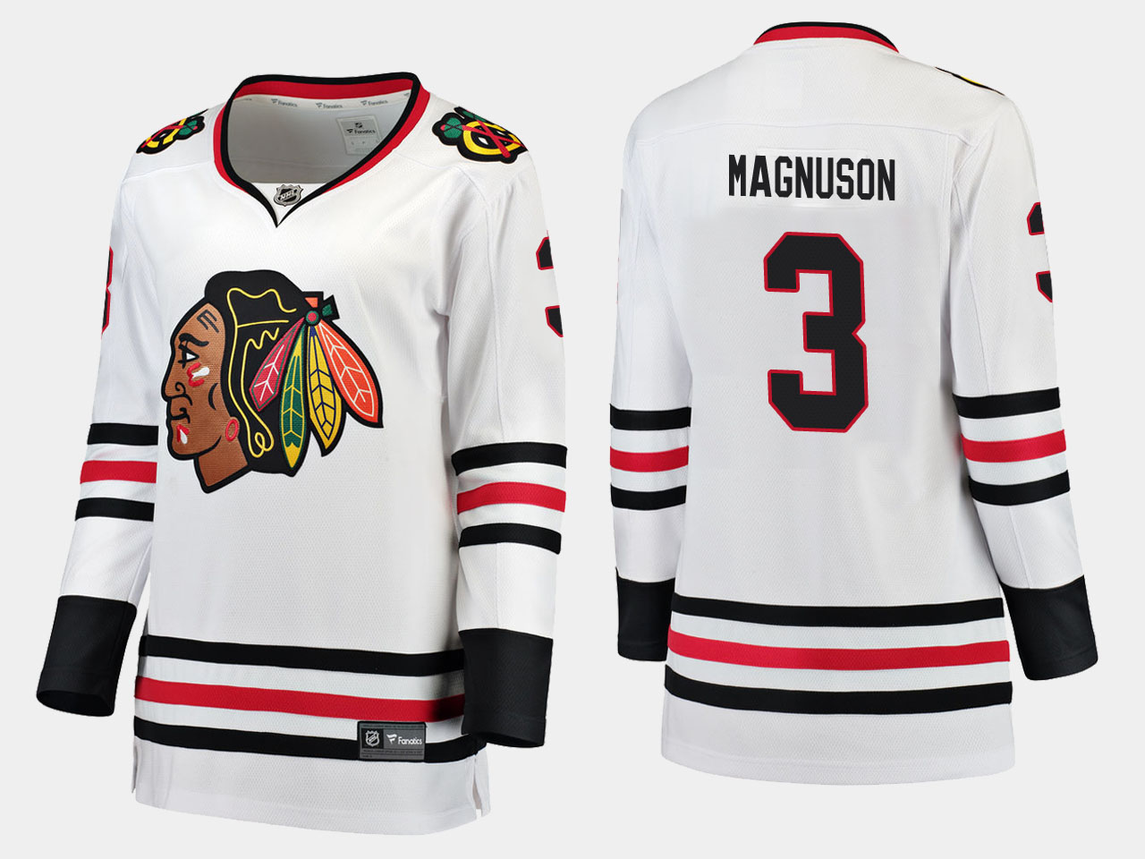 White Jersey Chicago Blackhawks Women's Road Keith Magnuson