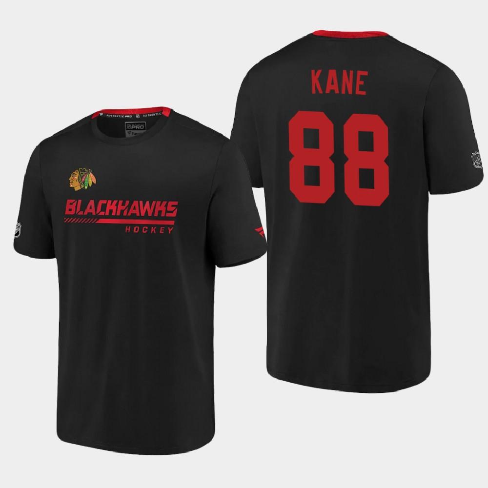 Men's Black Chicago Blackhawks Patrick Kane T-Shirt Authentic Pro
