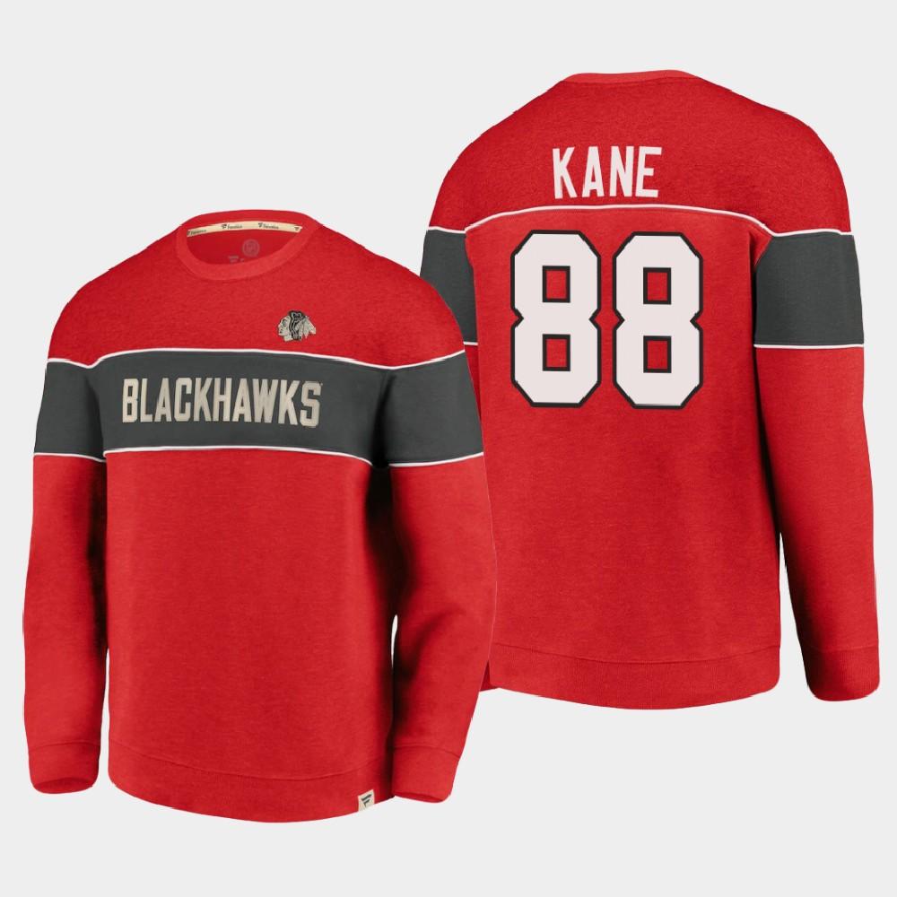 Men's Red Chicago Blackhawks Patrick Kane Sweatshirt Varsity Reserve
