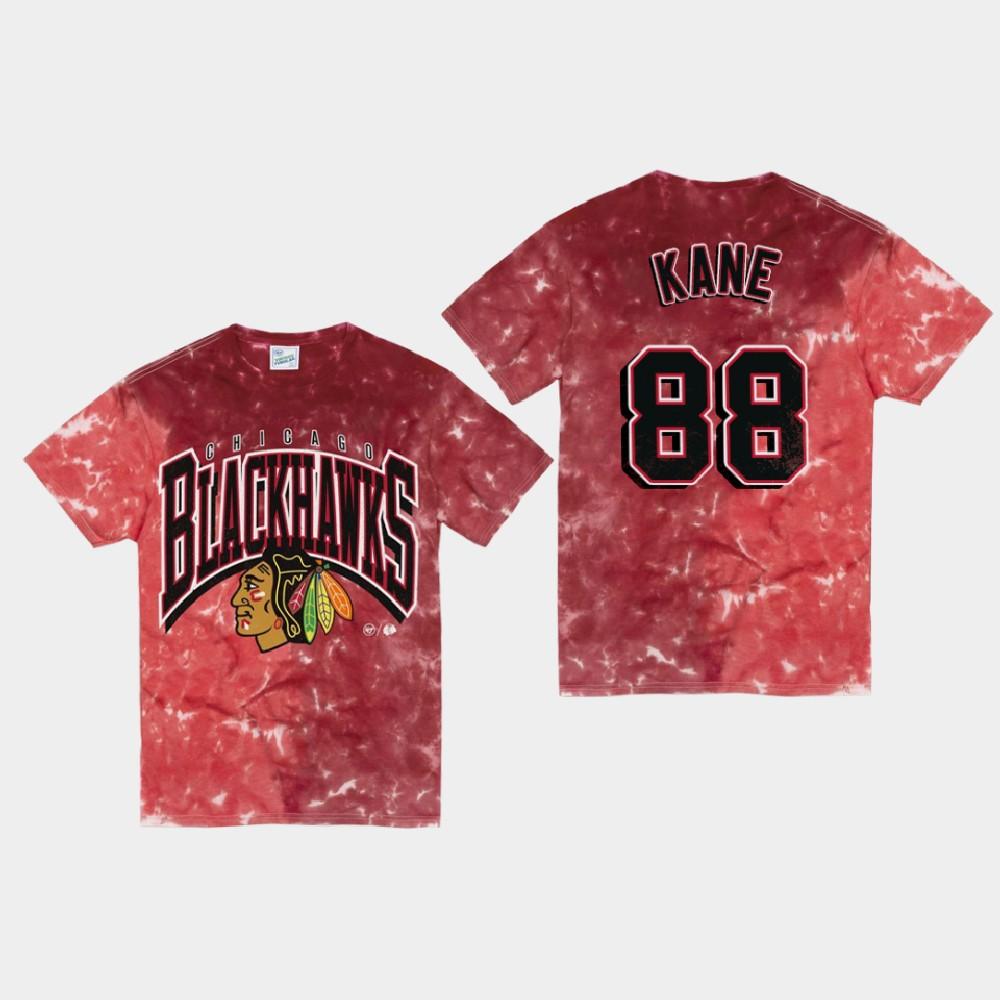Men's Red Chicago Blackhawks Patrick Kane T-Shirt Vintage Tubular