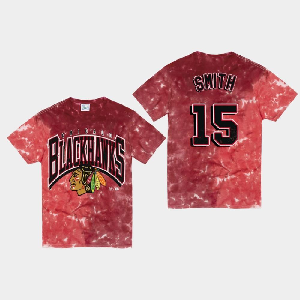 Men's Red Chicago Blackhawks Zack Smith T-Shirt Vintage Tubular