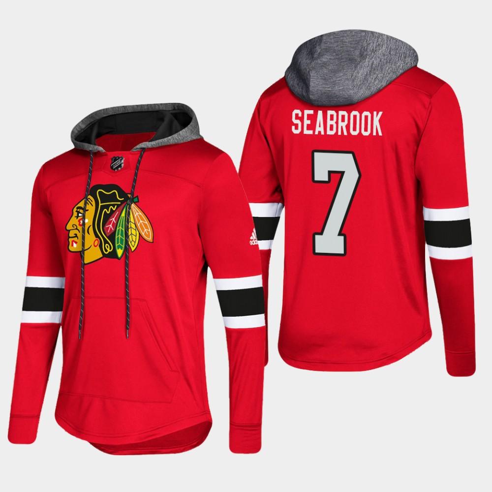 Men's Chicago Blackhawks Brent Seabrook Hoodie Pullover red