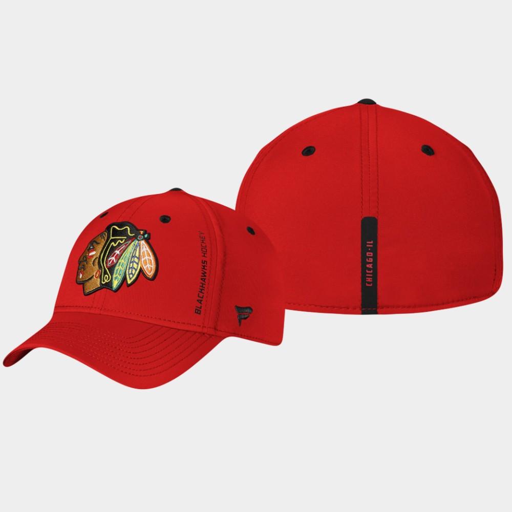 Men's Red Chicago Blackhawks Hat Authentic Pro Rinkside
