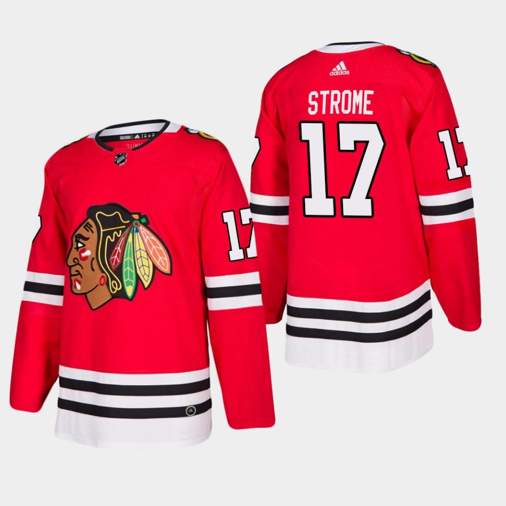 Men's Jersey Red Home Chicago Blackhawks Dylan Strome