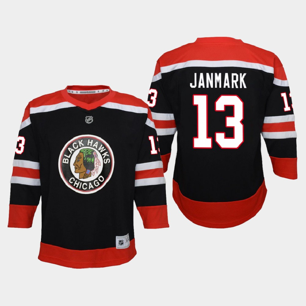 Jersey Reverse Retro Black Chicago Blackhawks Youth Mattias Janmark