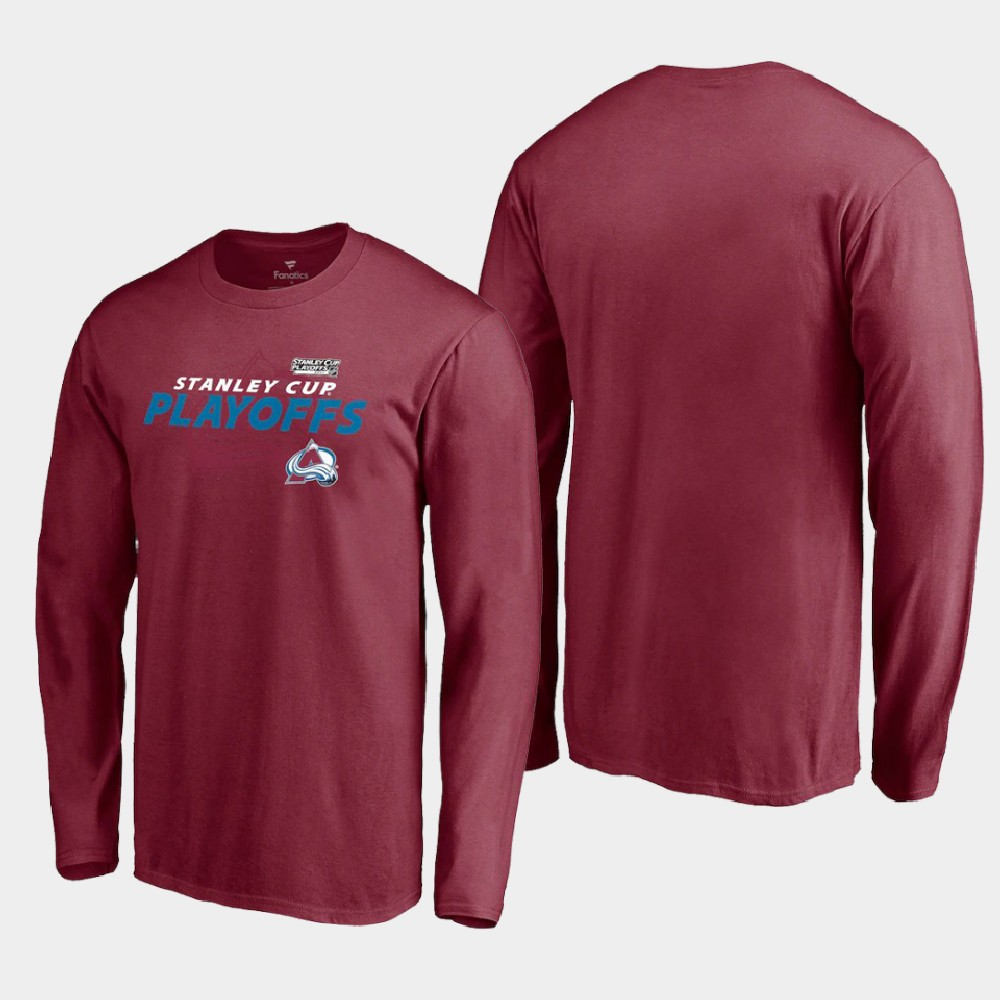Men's Colorado Avalanche Burgundy 2021 Stanley Cup Playoffs T-Shirt