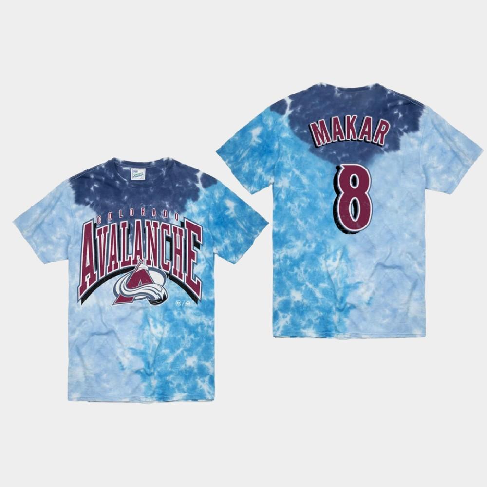 Men's Blue Colorado Avalanche Cale Makar T-Shirt Vintage Tubular
