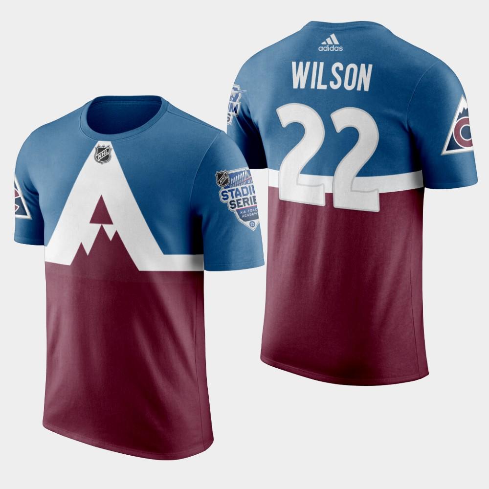 Men's Colorado Avalanche Burgundy Colin Wilson 2020 Stadium Series T-Shirt