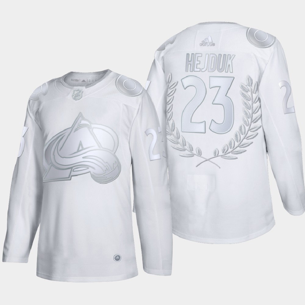 White Men's Jersey Colorado Avalanche Milan Hejduk Award