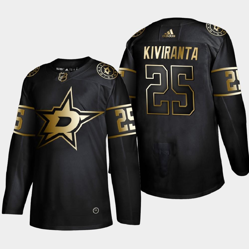 Men's Jersey Black NHL Golden Edition Dallas Stars Joel Kiviranta