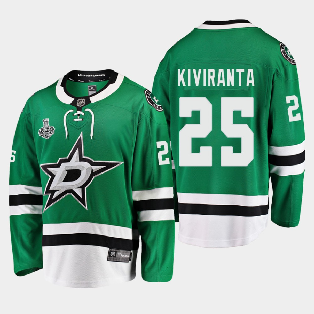 Men's Jersey Green Dallas Stars Joel Kiviranta 2020 Stanley Cup Final