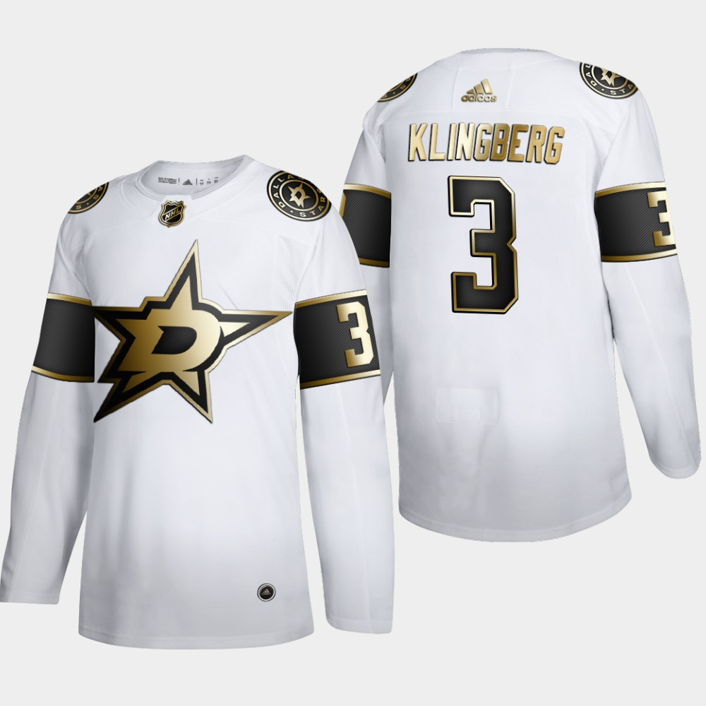 White Men's Jersey NHL Golden Edition Dallas Stars John Klingberg