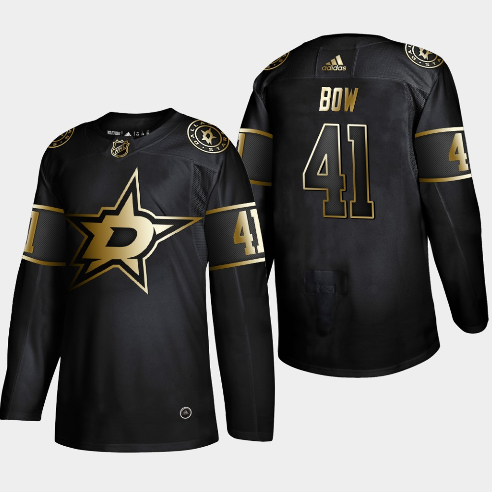 Men's Jersey Black NHL Golden Edition Dallas Stars Landon Bow